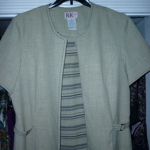 2 pc set tank top and jacket R&K 18 gray olive